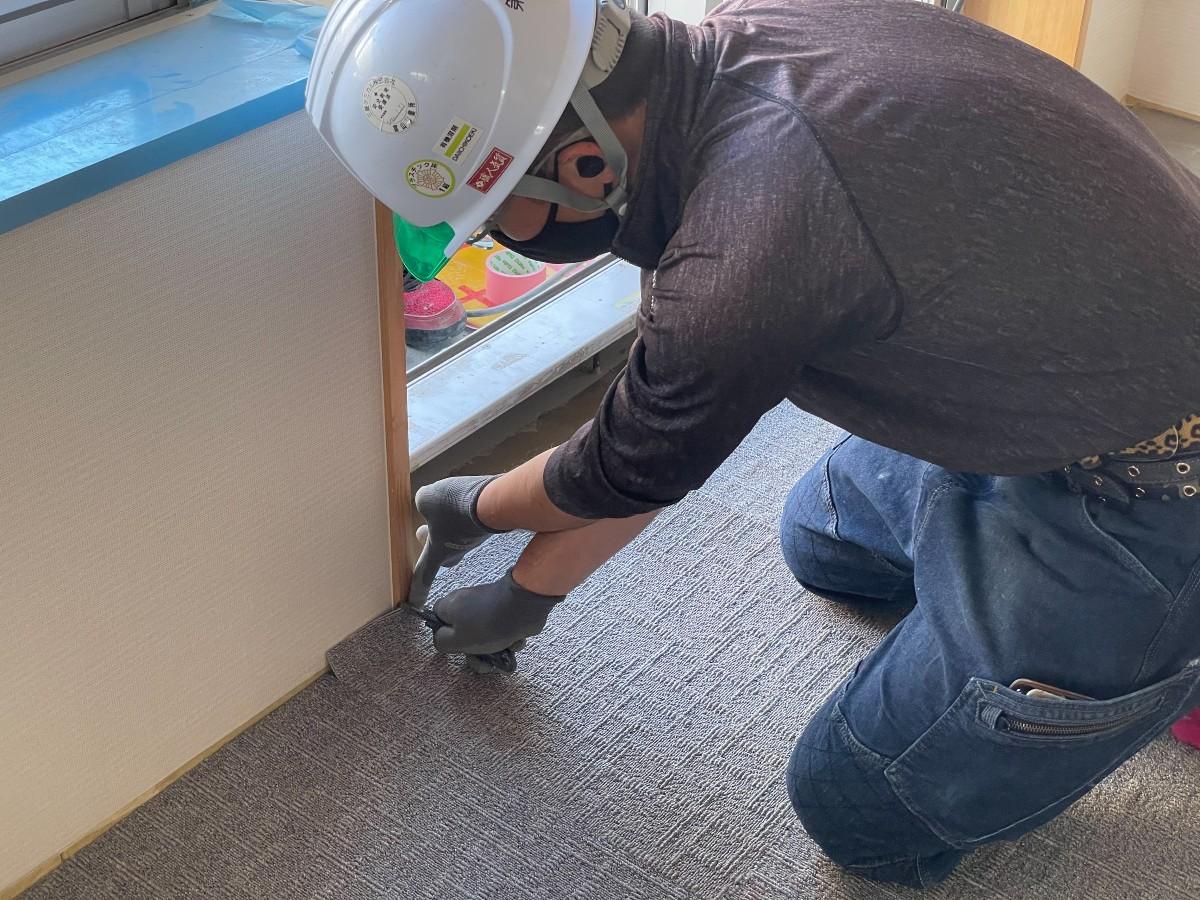 床仕上げ工事 タイルカーペット貼り